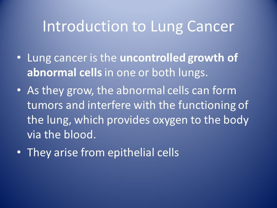 lung cancer essay paper View essay - lung cancer research paper from hsc 109 at essex county college lungcancermariluigizanoria lung cancer mari luigi s zanoria.