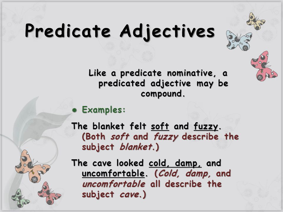 subject and predicate examples pdf