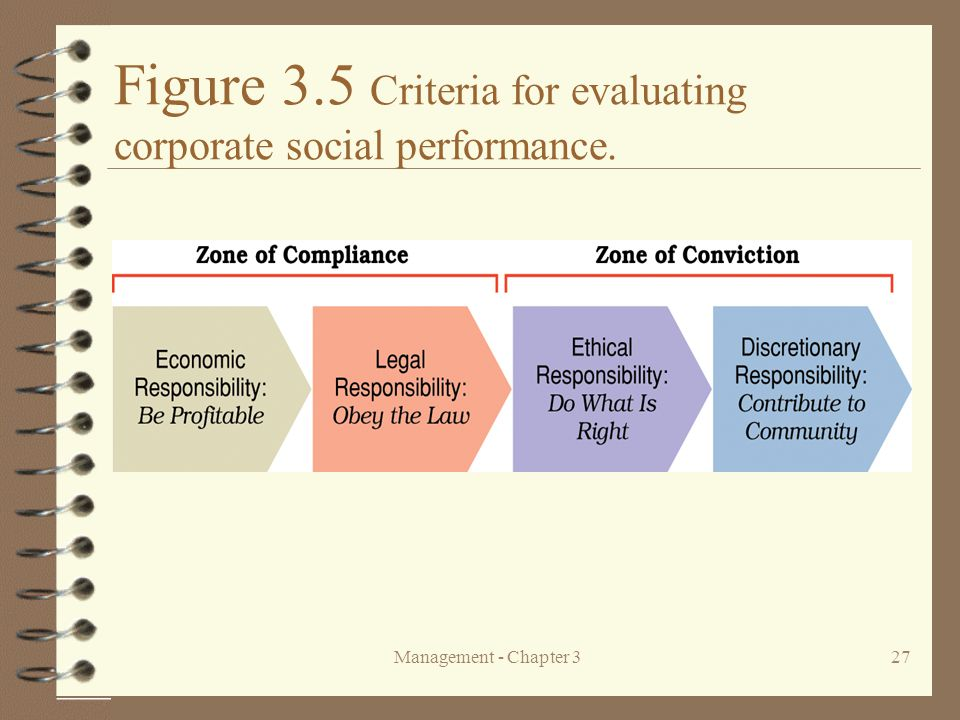 Figure 3.5 Criteria for evaluating corporate social performance.
