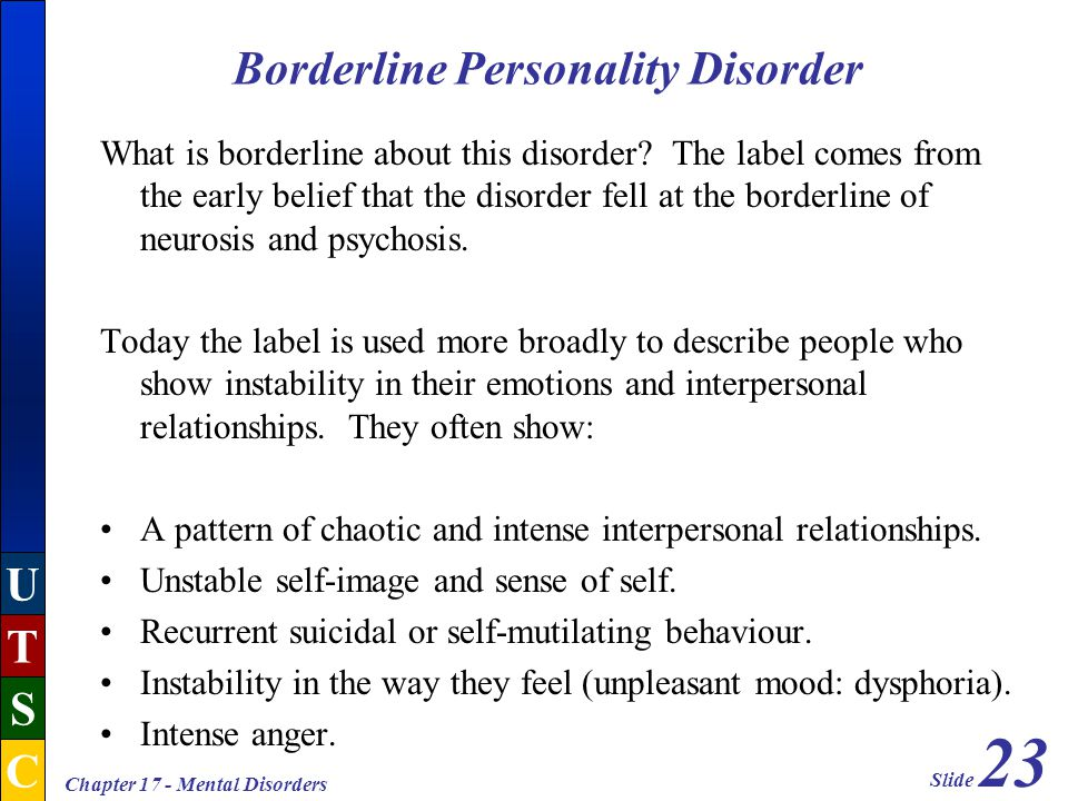 borderline personality disorder traits and their relationship