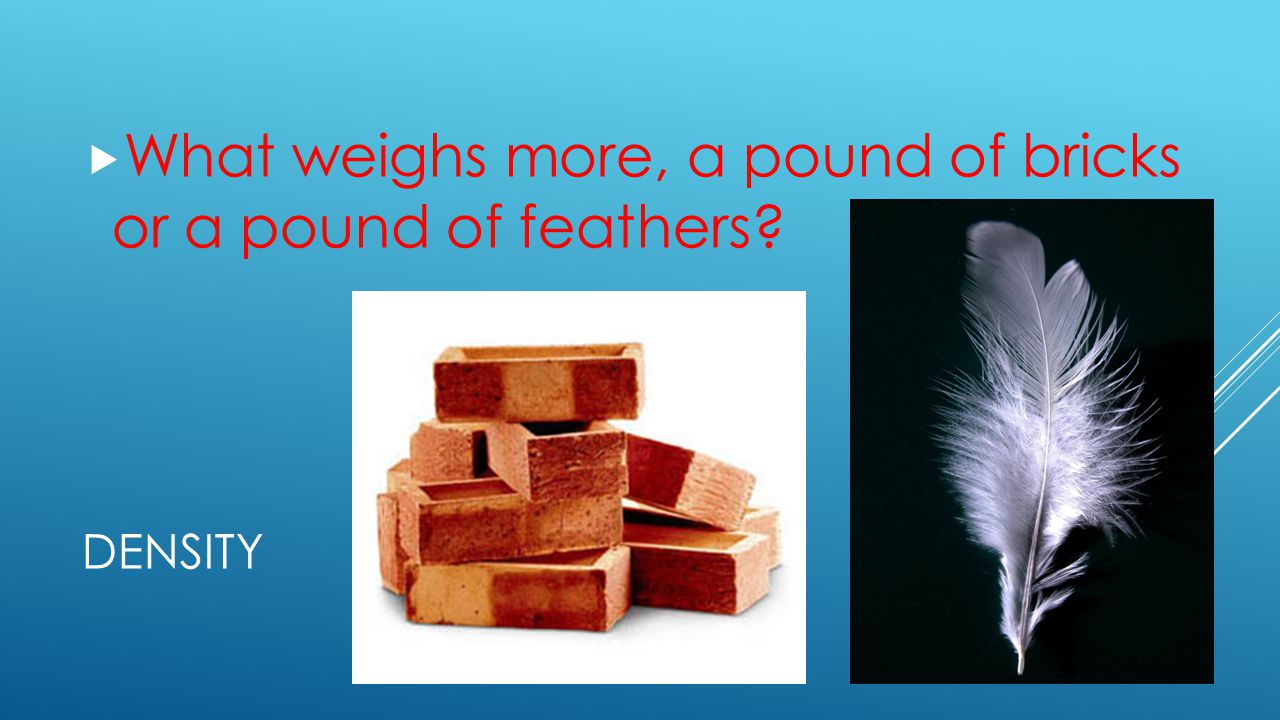 What weighs more, a pound of bricks or a pound of feathers