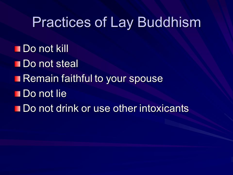Practices of Lay Buddhism