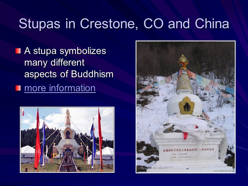 Stupas in Crestone, CO and China