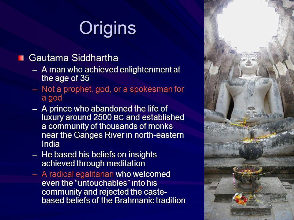 Origins Gautama Siddhartha