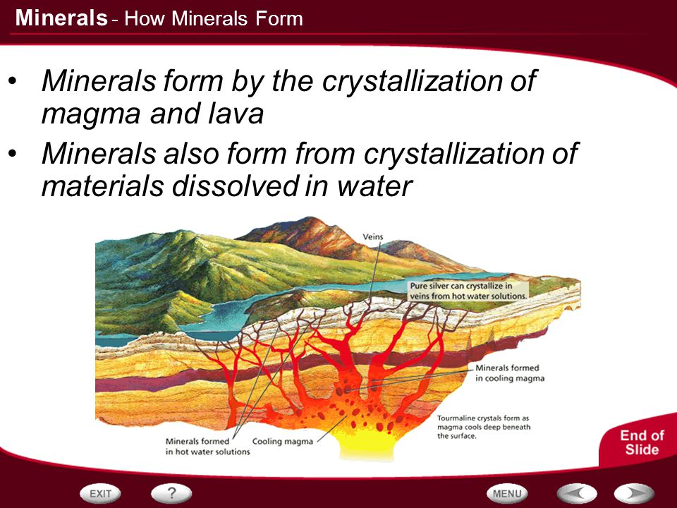 Table of Contents Properties of Minerals How Minerals Form - ppt ...