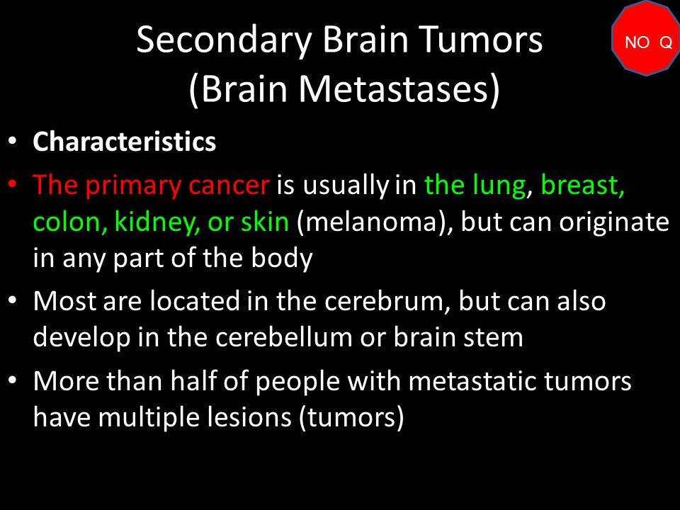secondary breast cancer brain