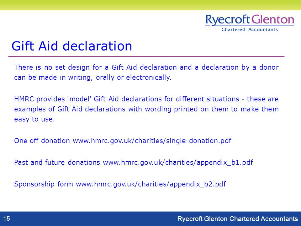 Detlev anderson charities partner ryecroft glenton 12 june ppt download 17 gift negle Image collections