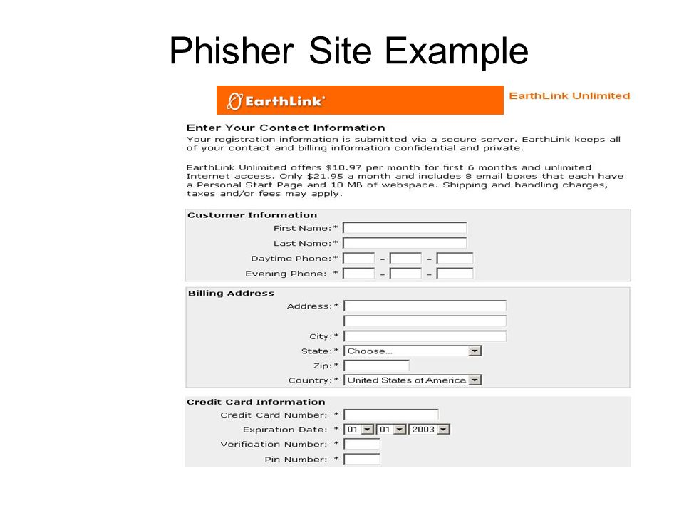 Phisher Site Example