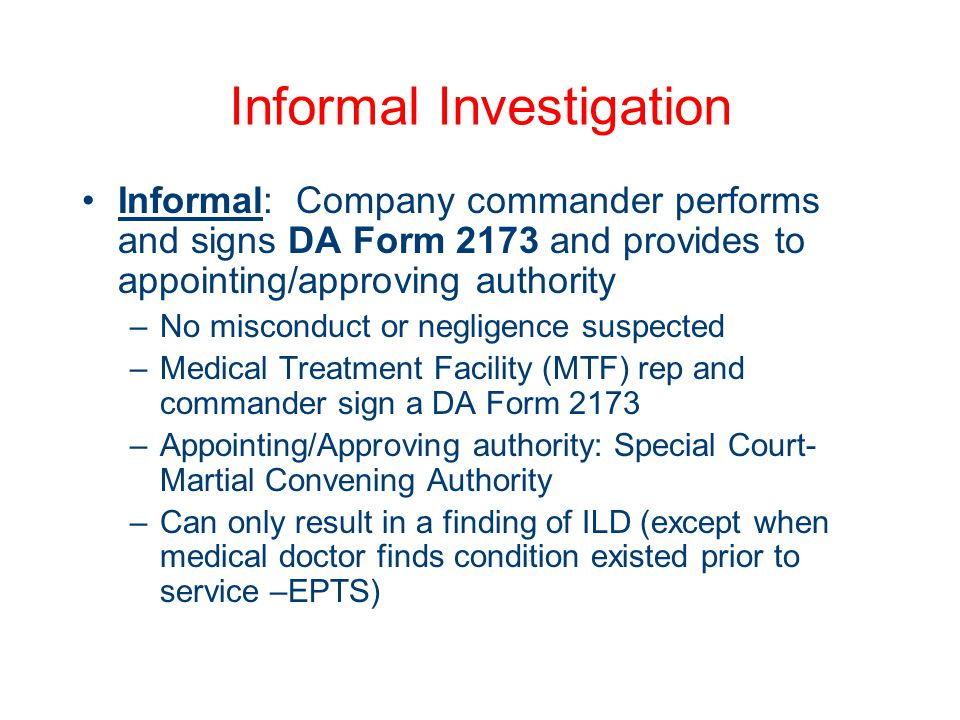 Administrative Investigations - ppt download