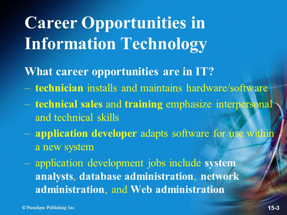 careers in information technology pdf