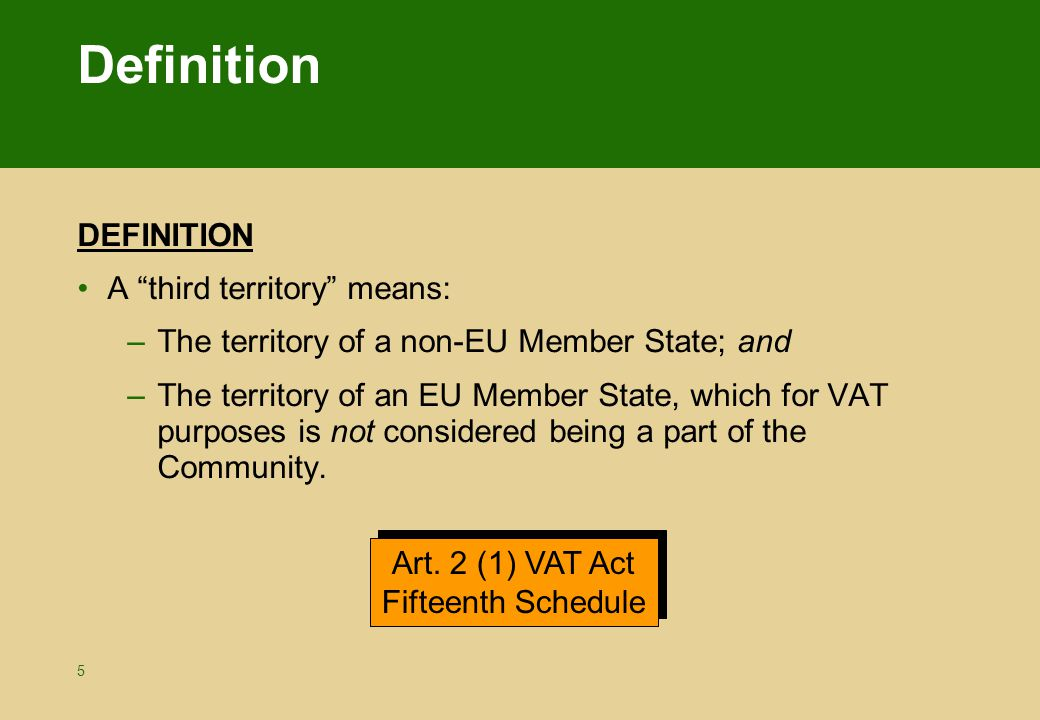 Vat treatment importation ppt video online download for State of the art meaning