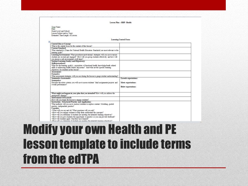 Edtpa Lesson Plan Template Images Jimeneza April Jimenez - Blank lesson plan template for physical education
