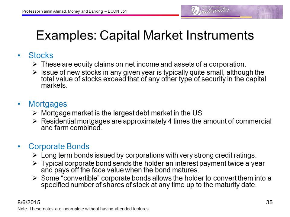 capital market debt instruments Economies of the value of well-functioning capital markets how capital markets enhance economic performance and facilitate job creation  these underlying debt and equity instruments the.