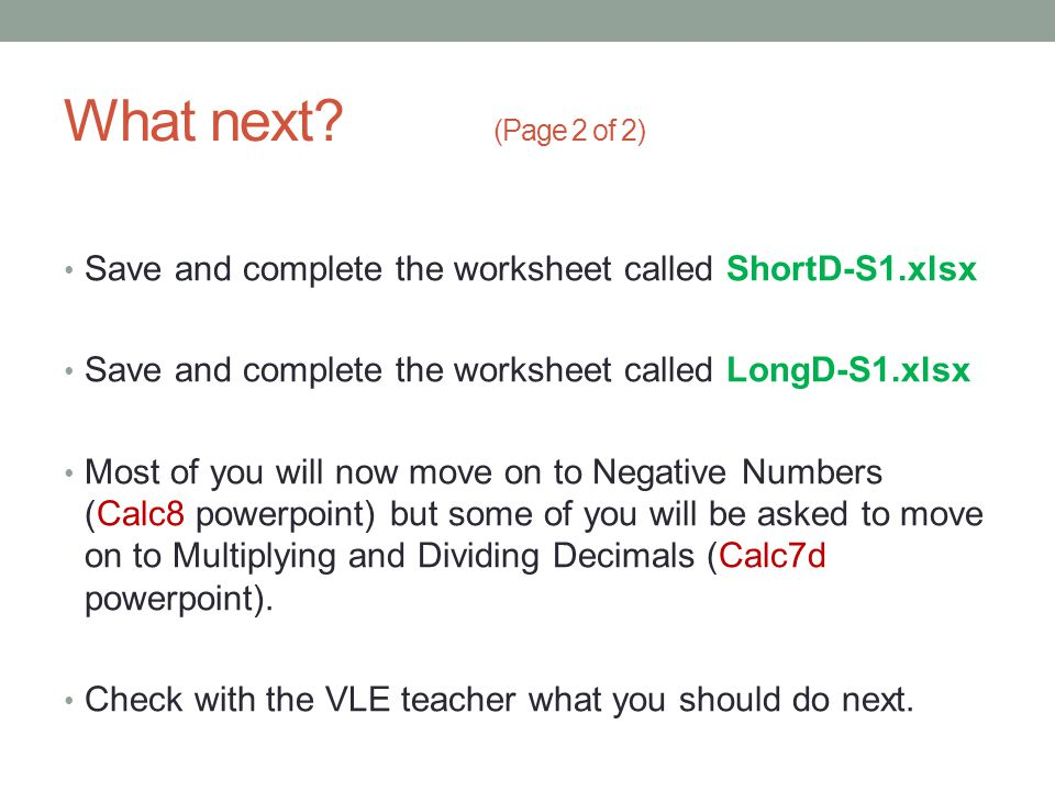 Mathematics Short Long Division ppt download – Multiplying and Dividing Negative Numbers Worksheet