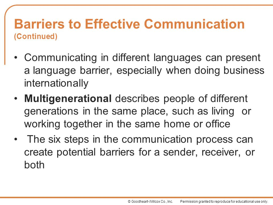 the different barriers in effective communication Barriers to communication causes different  different types of barriers to communication are  discuss the barriers to effective communication when.
