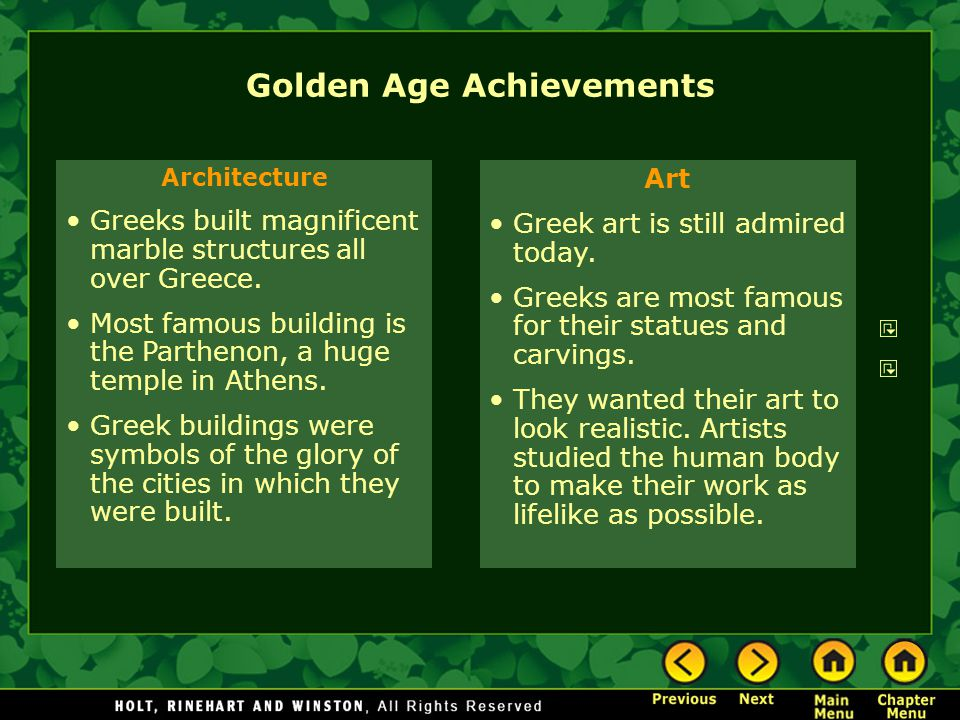 Golden Age Achievements