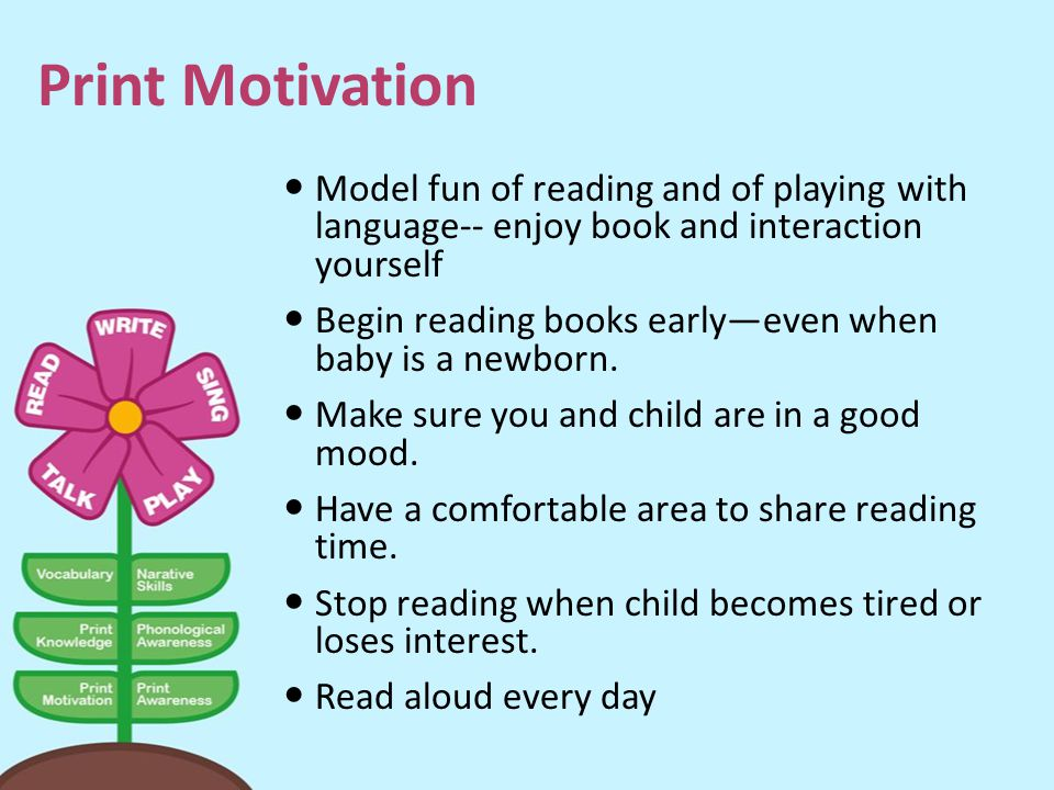 Print Motivation Model fun of reading and of playing with language-- enjoy book and interaction yourself.