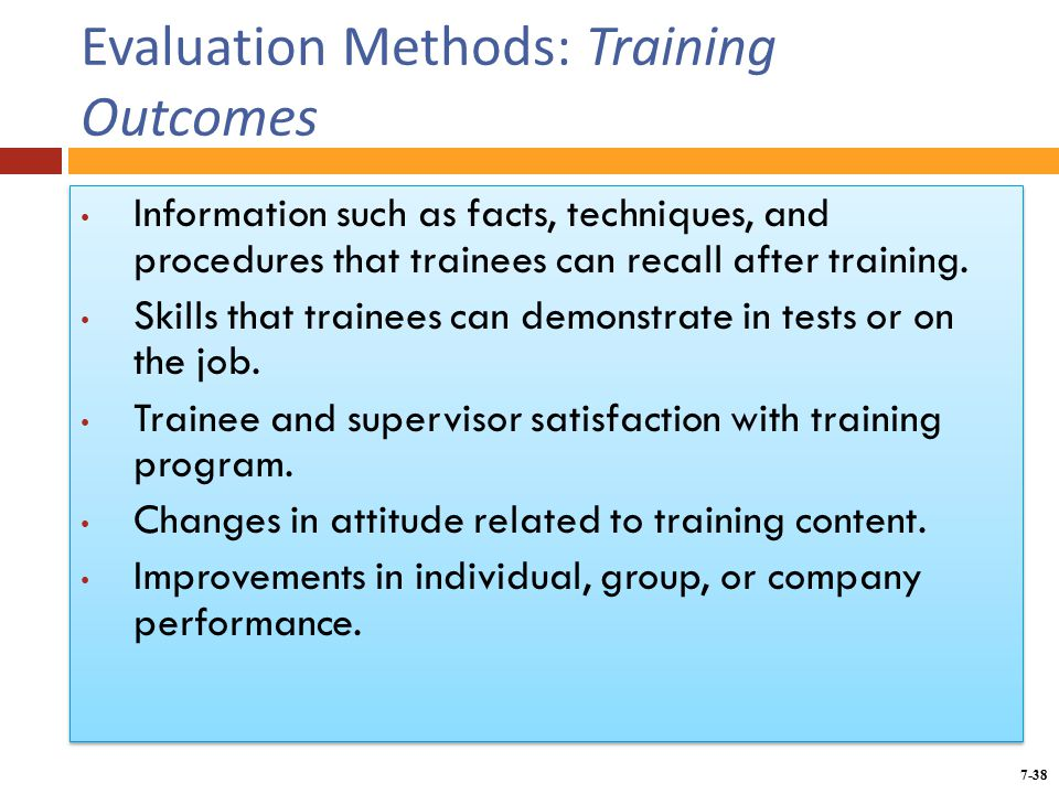 """training and organization outcomes The more leaders indicate that training is important to the organization, the better  the outcomes of training """"training works best when."""