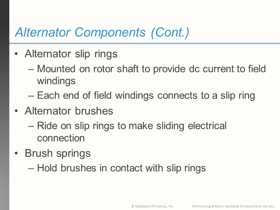 Alternator Components (Cont.)