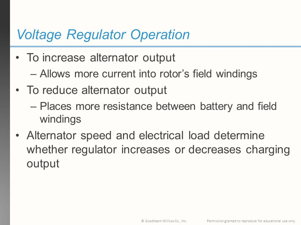 Voltage Regulator Operation