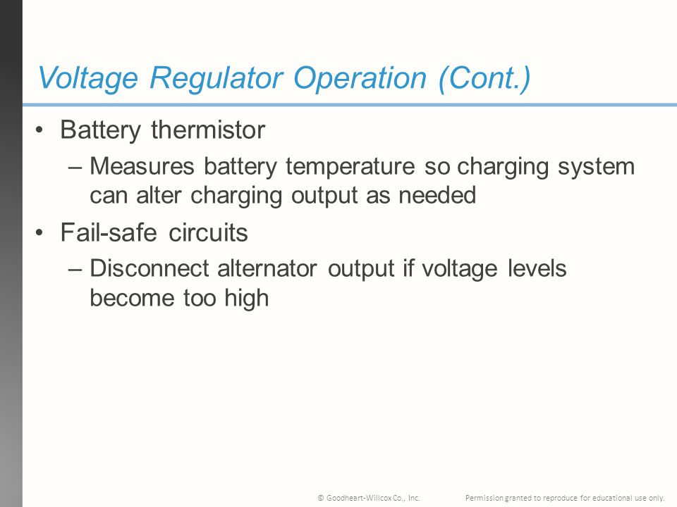 Voltage Regulator Operation (Cont.)