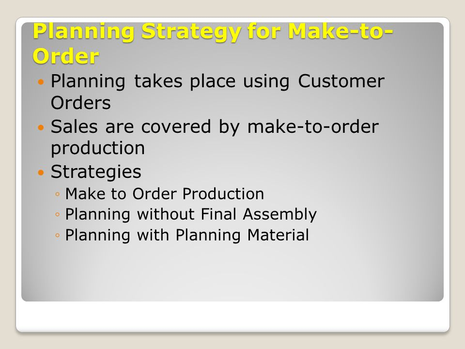 Enterprise Systems Configuration Production Planning Master Data ...