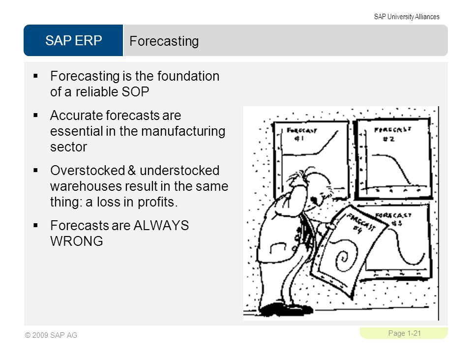 Forecasting is the foundation of a reliable SOP