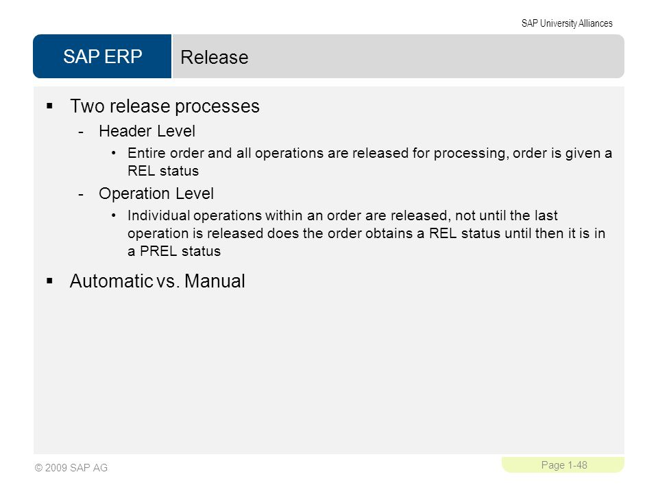 Release Two release processes Automatic vs. Manual Header Level