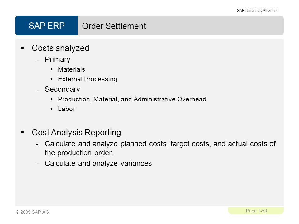 Cost Analysis Reporting