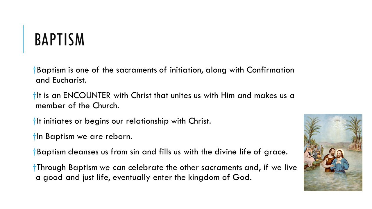 Religion 7 mrs letourneau ppt video online download baptism baptism is one of the sacraments of initiation along with confirmation and eucharist biocorpaavc