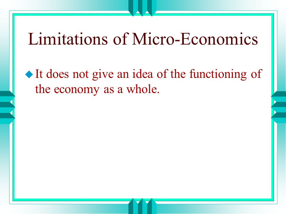 limitation of economics Extracts from this document introduction economics extended response buffer stock scheme lee, grade 11 a) buffer stock scheme is a.