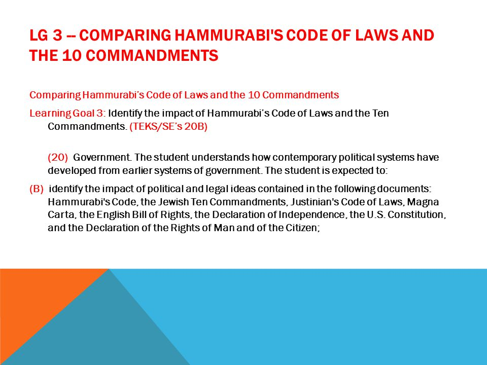 comparing jewish law and hammurabi code What is the difference between hammurabi's code and what is the difference between hammurabi's code and jewish law the polytheistic law-code of hammurabi was.