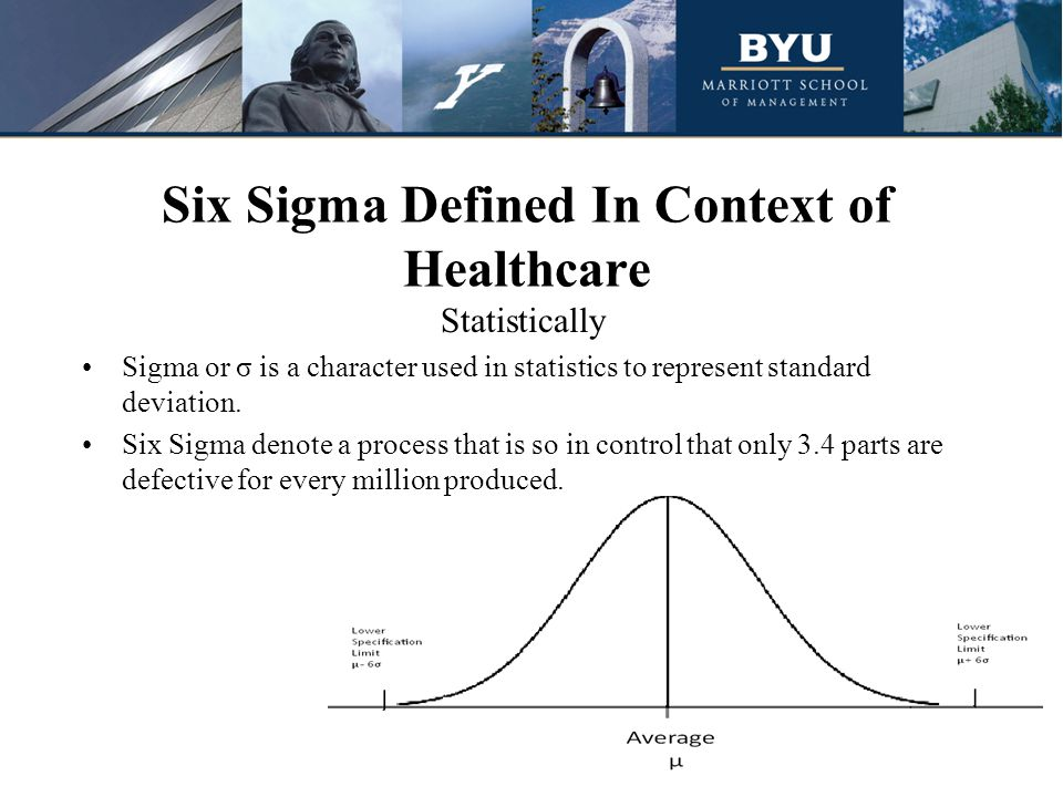 six sigma and health care In my years of being involved in quality improvement in manufacturing, service industries and healthcare i have encountered many different quality programs: total quality management, six sigma, plan-do-check-act, lean production, baldrige, and lean six sigma, the current favorite it seems in the first few years of the 2000s six sigma.