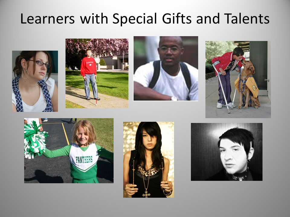 learners with special gifts and talents essay Students in the new york university silver school of social work are expected to  possess the following abilities and attributes at a level appropriate to their year.