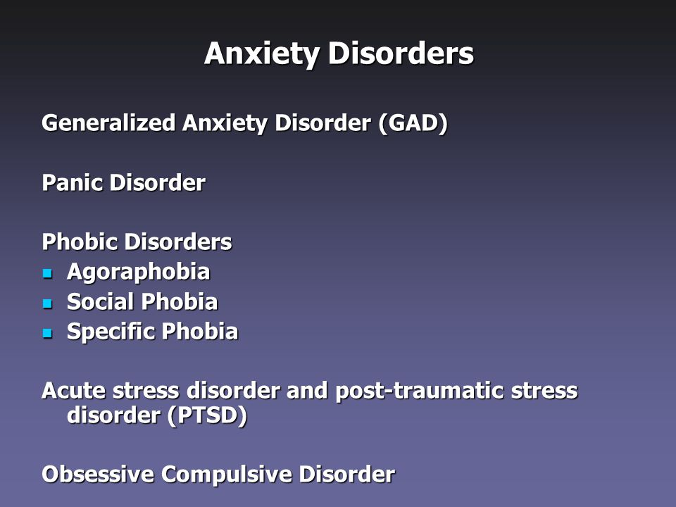 Get the facts on generalized anxiety disorder GAD symptoms medications and treatment GAD causes symptoms such as dread worry and angst About 9 of