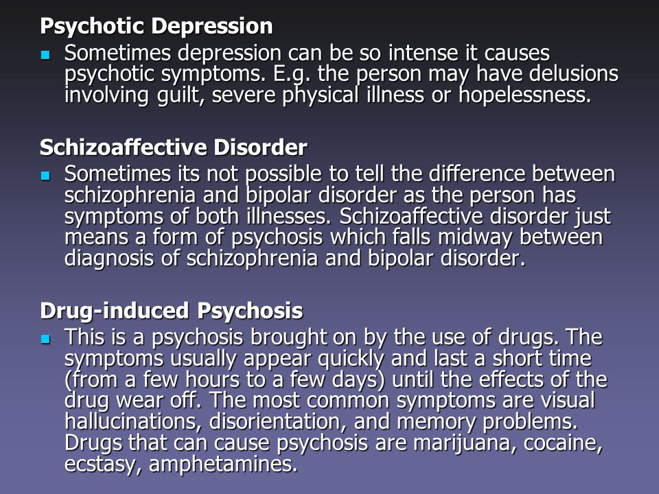 a drug induced psychosis health and social care essay Drug-induced psychosis the symptoms of substance use disorders fall into four categories: impaired control, social impairment, risky use, and pharmacological criteria research has shown that prevention programs involving families, schools, communities, and health care providers, aimed at.