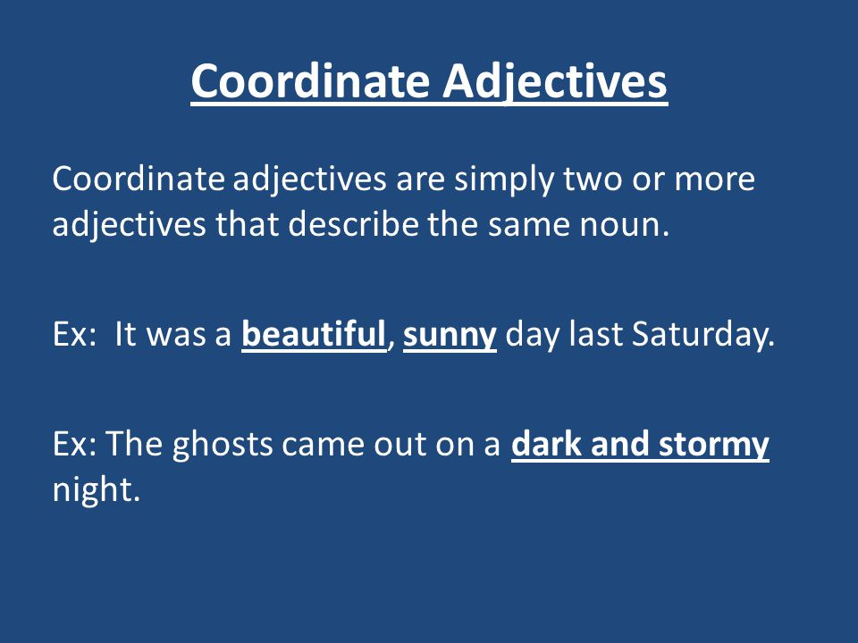 Free Worksheets Library Download And Print On. Separate Coordinate Adjectives Video Lesson English Videos. Worksheet. Worksheet Coordinate Adjectives At Clickcart.co