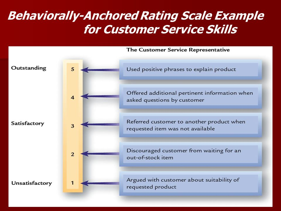 Behaviorally-Anchored Rating Scale Example for Customer Service Skills