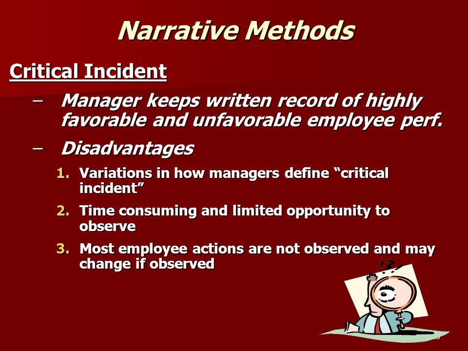 Narrative Methods Critical Incident