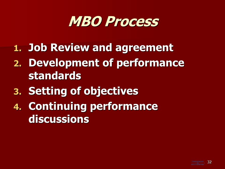 MBO Process Job Review and agreement