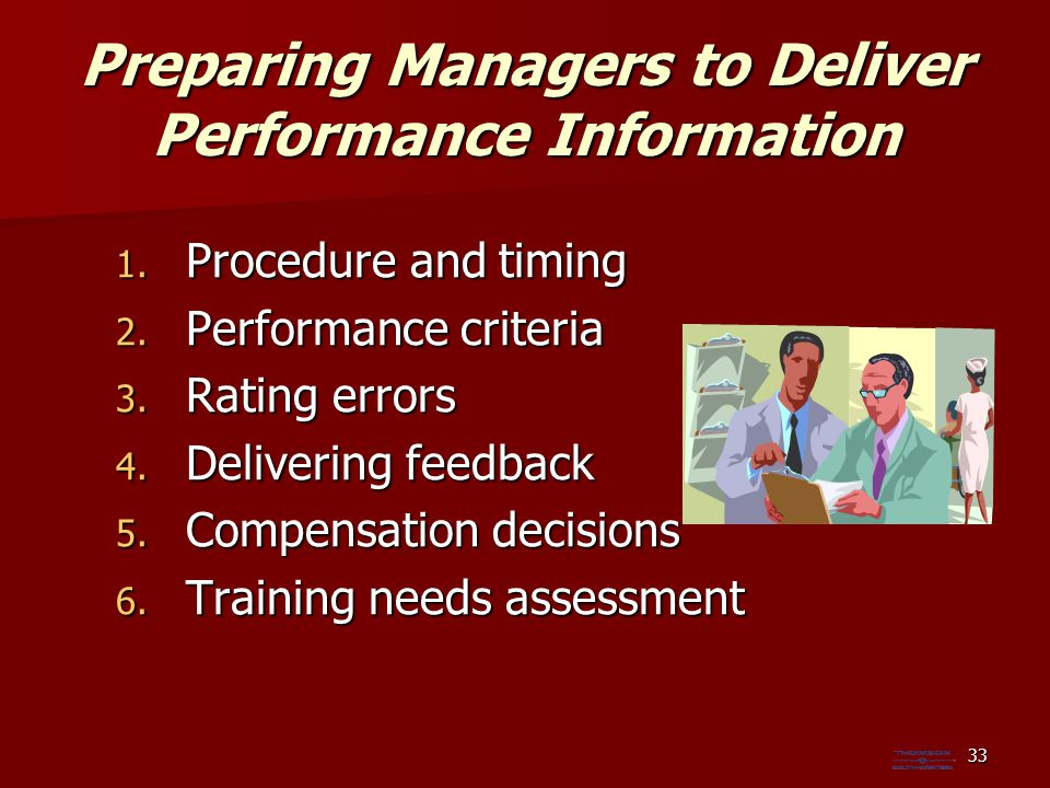 Preparing Managers to Deliver Performance Information