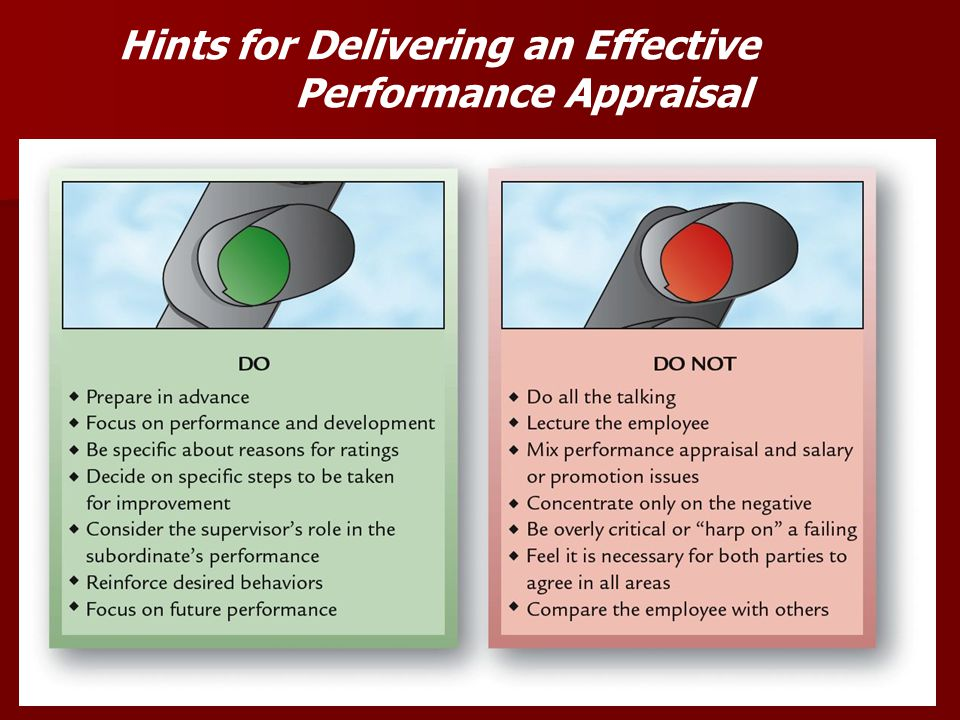 Hints for Delivering an Effective Performance Appraisal