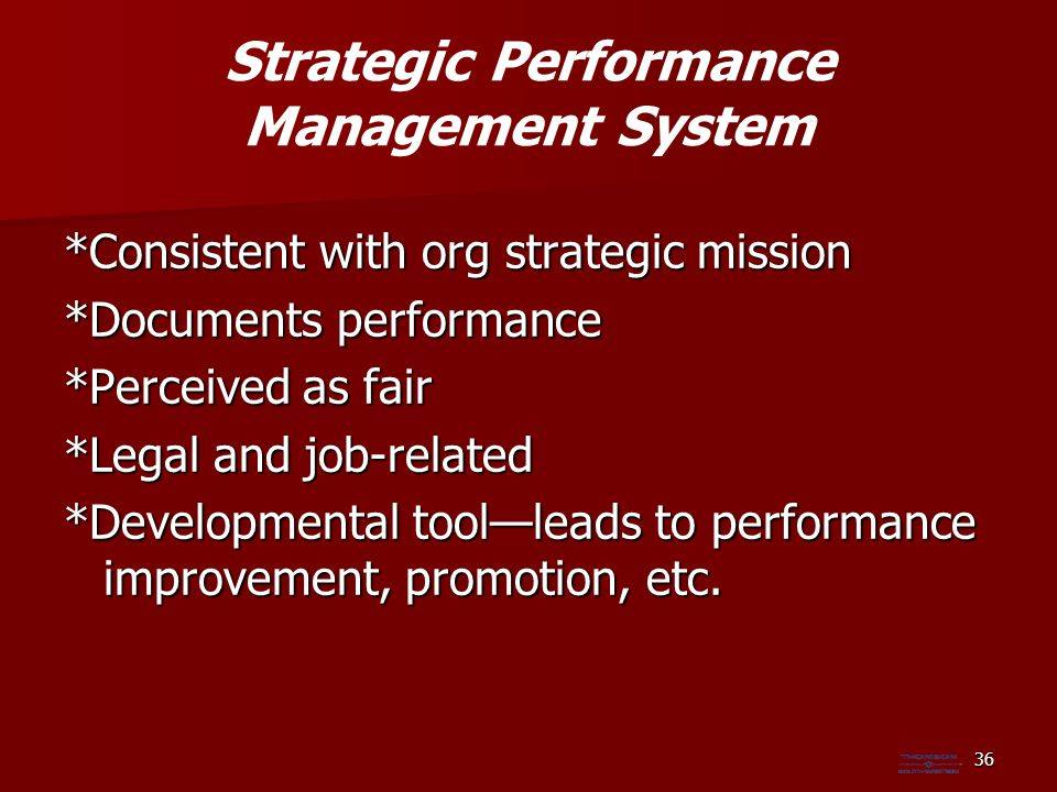 Strategic Performance Management System
