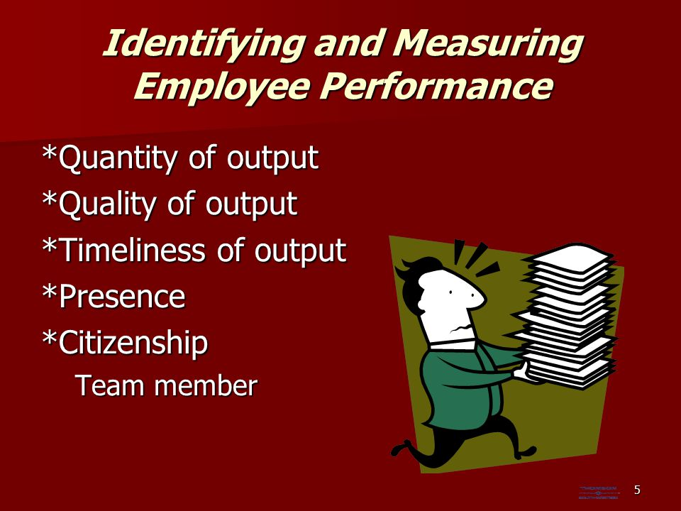 Identifying and Measuring Employee Performance