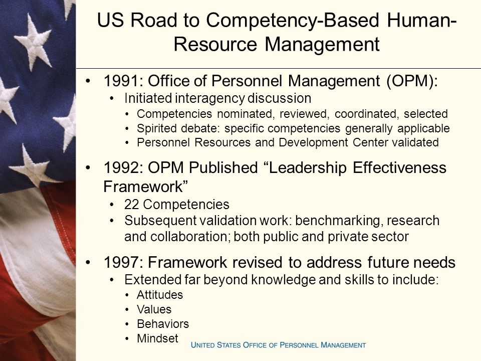 The Design And Application Of Competencies In The United