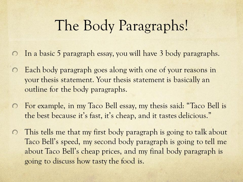 How to write a body paragraph: nuts and bolts of academic writing