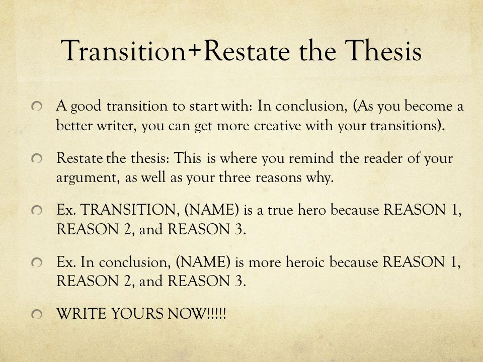 thesis starters