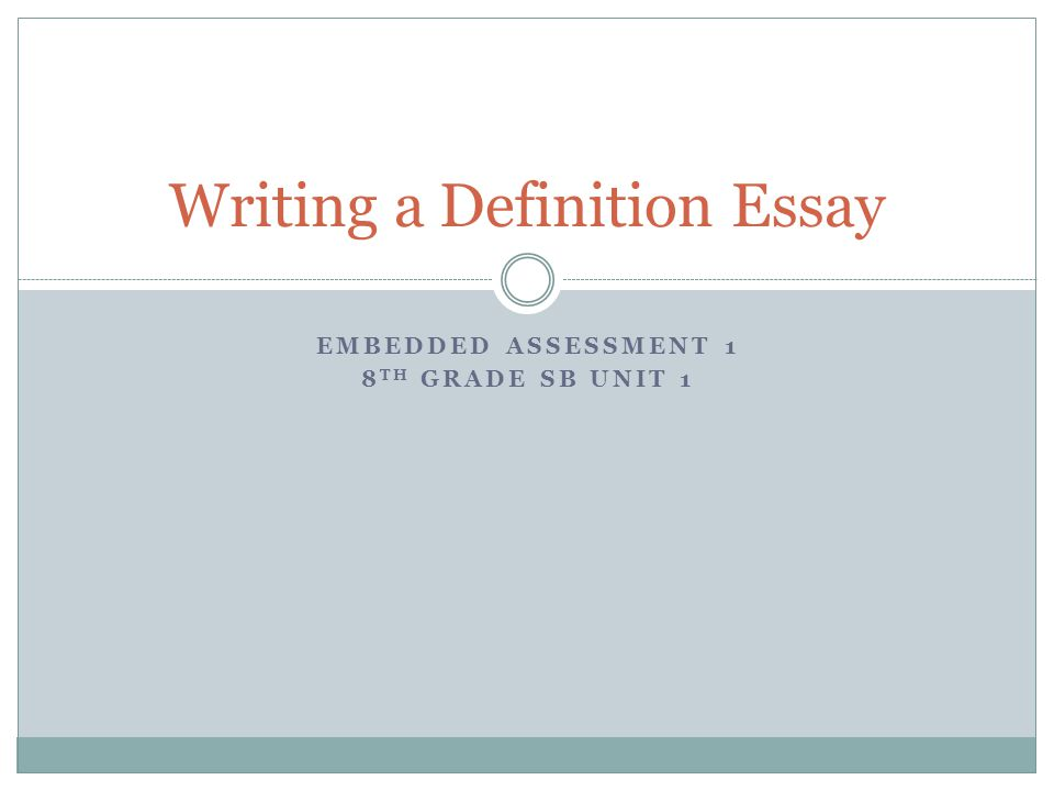 Your essay write definition