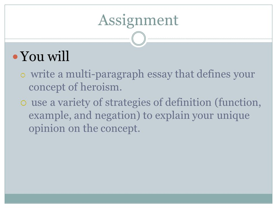 writing a definition essay ppt video online  2 assignment