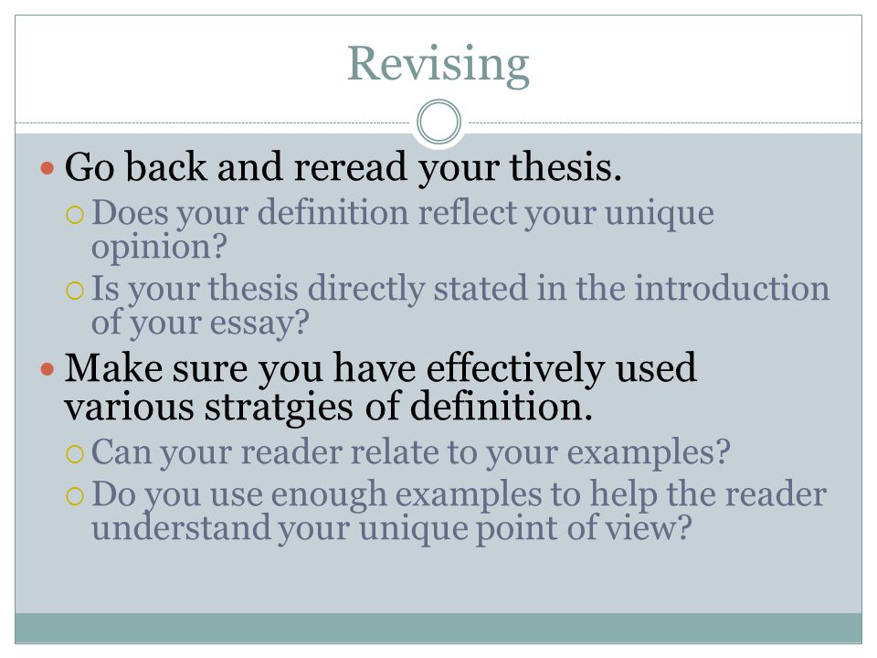 Revising thesis for publication